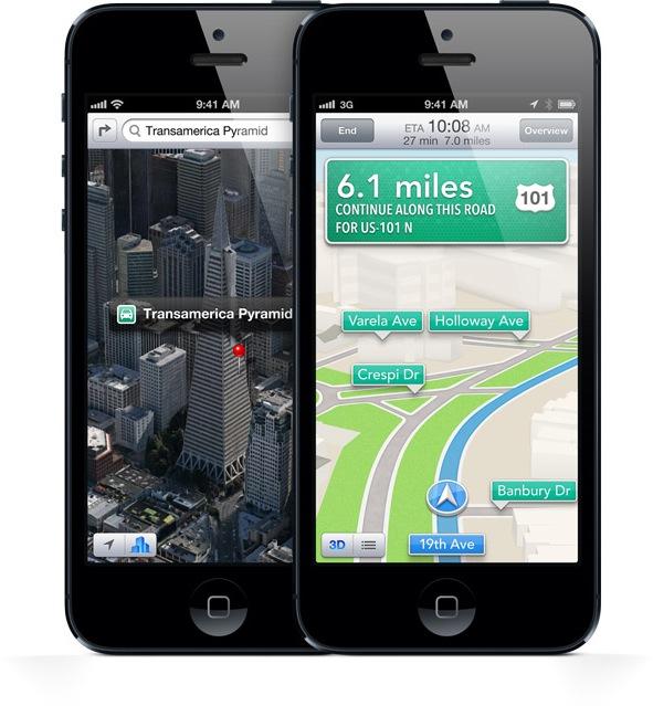 Mapas do iOS 6 no iPhone 5