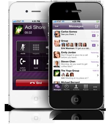 Aplicativo Viber em iPhones