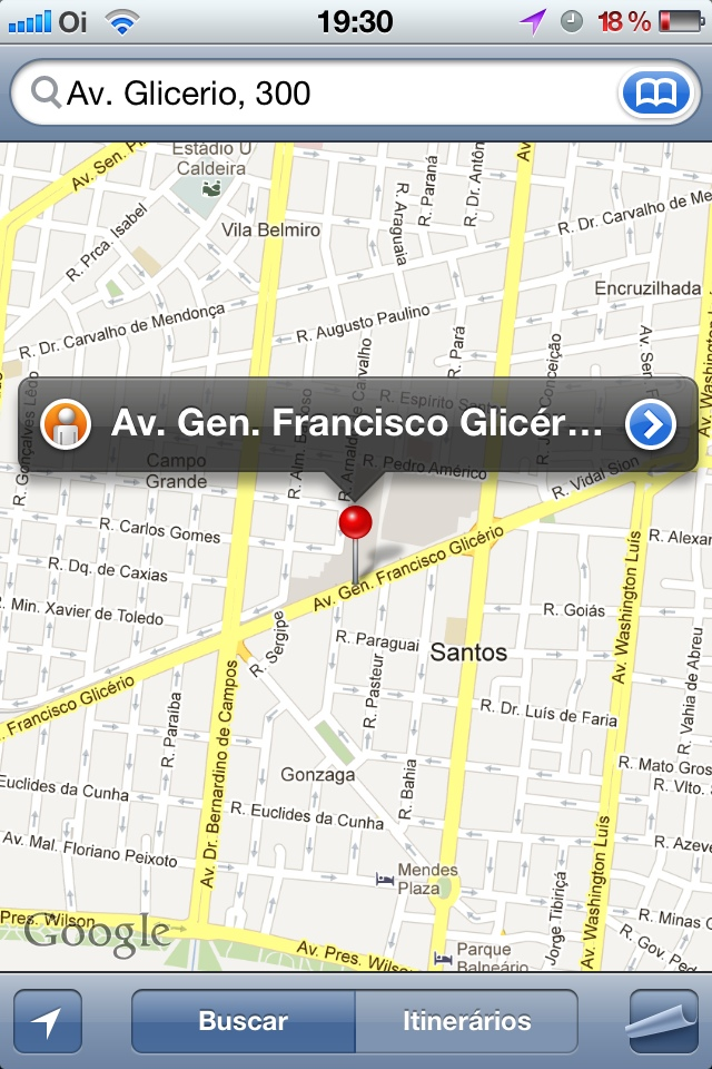 Mapas do Google - Pesquisa 1