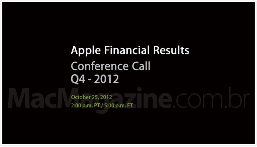 Resultados financeiros da Apple (FQ4 2012)