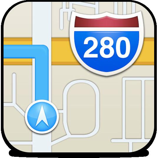 Ícone do Mapas no iOS 6