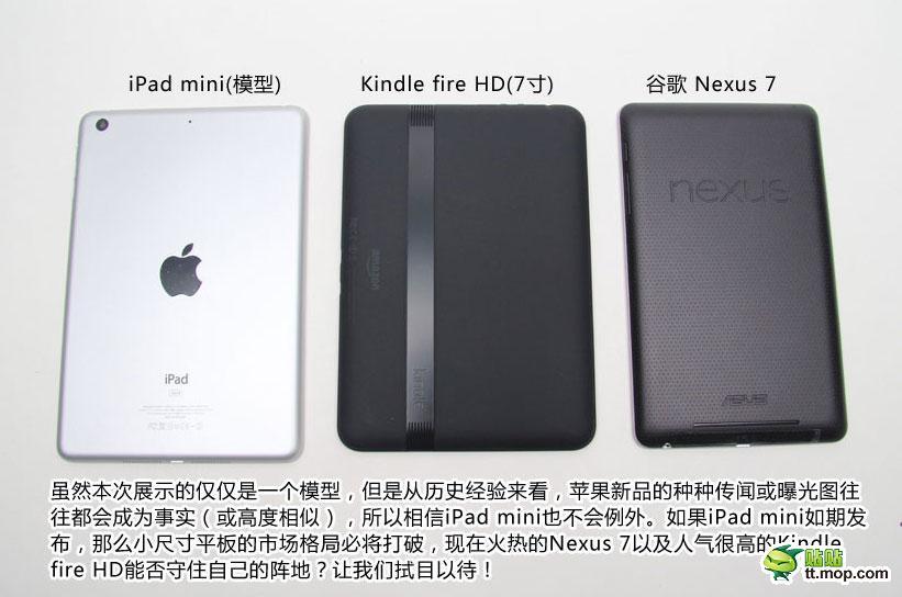 iPad mini vs. Kindle Fire HD vs. Nexus 7