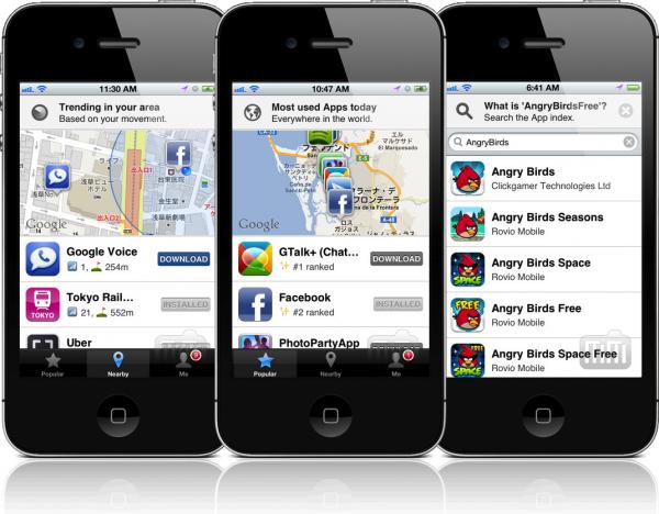 App Mapa em iPhones