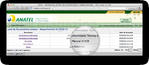 Documentos do iPhone 5 - Anatel