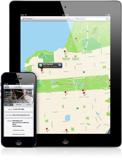 Mapas do iOS 6 em iPad e iPhone