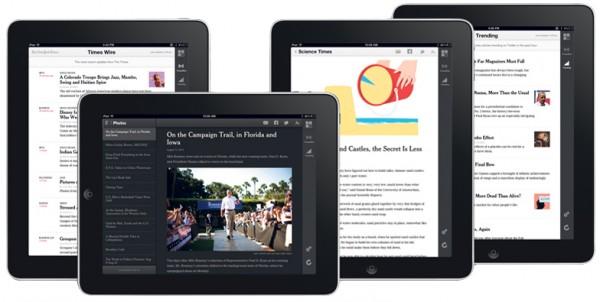 The New York Times web app para iPads