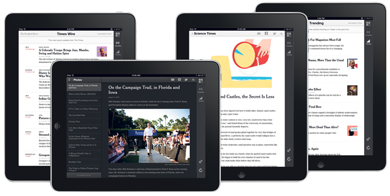 The New York Times web app para iPads
