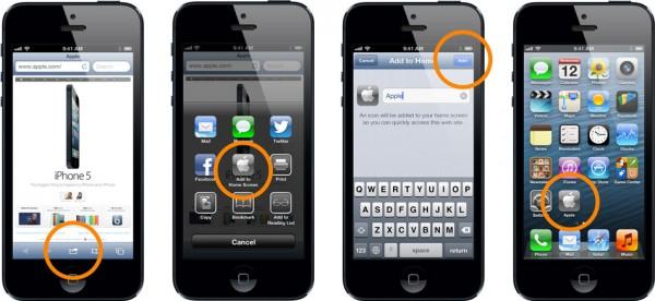 Criando um ícone (atalho) na tela inicial do iPhone