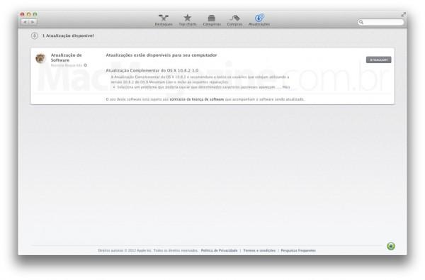 Atualização Complementar do OS X 10.8.2 1.0