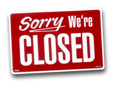 Sorry, we are closed (Desculpe, estamos fechados)