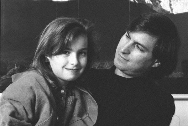 Steve Jobs com sua filha, Lisa