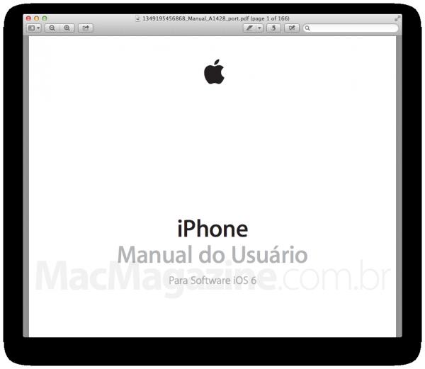 Manual do iPhone 5 (iOS 6) em português