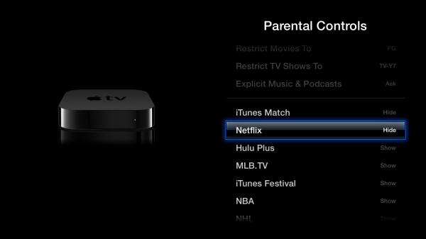 Como ocultar ícones em Apple TVs