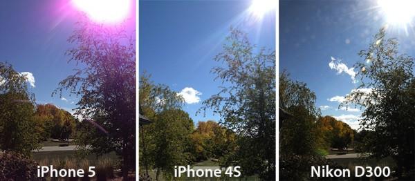 Luz roxa em foto tirada com o iPhone 5