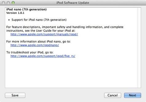 Atualização para o iPod nano