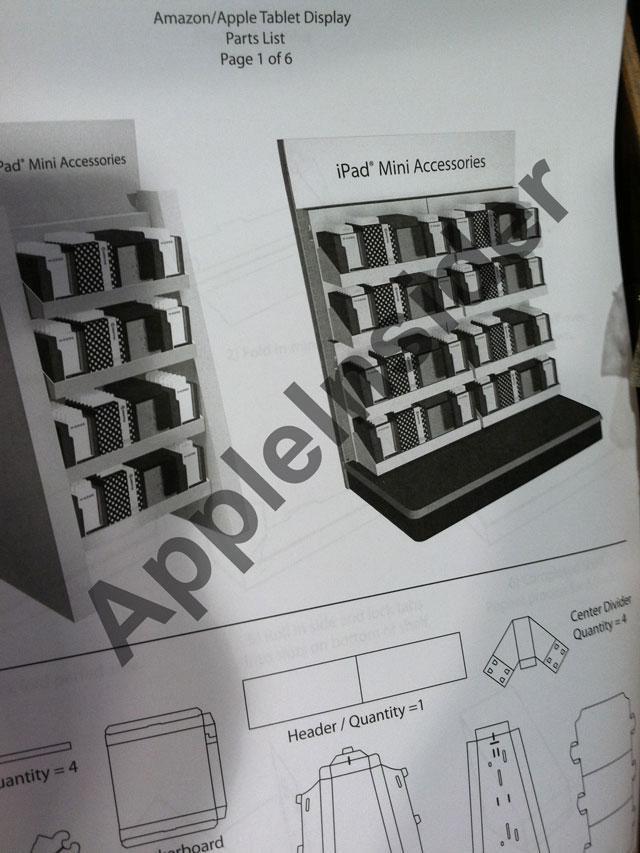 """Display criado para acessórios do """"iPad mini"""""""