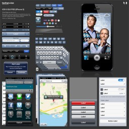 PSD com a GUI do iOS 6 (iPhone 5)
