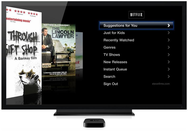 Netflix em Apple TV