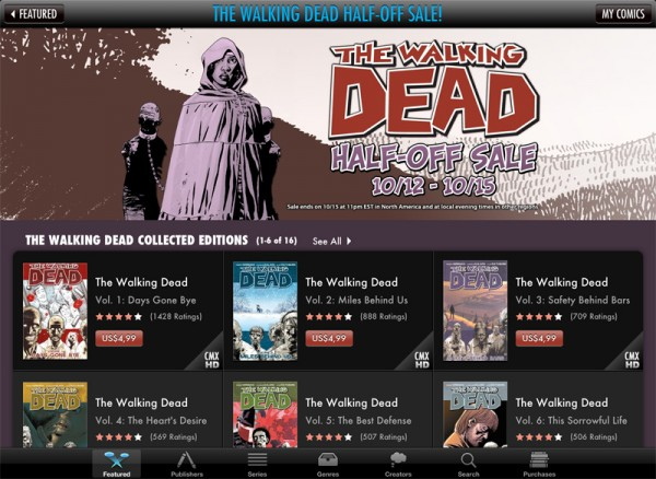 The Walking Dead na comiXology