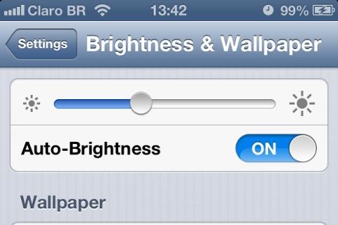 Ajuste automático de brilho no iPhone 4S