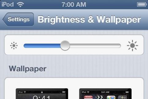 Falta do ajuste automático de brilho no iPod touch