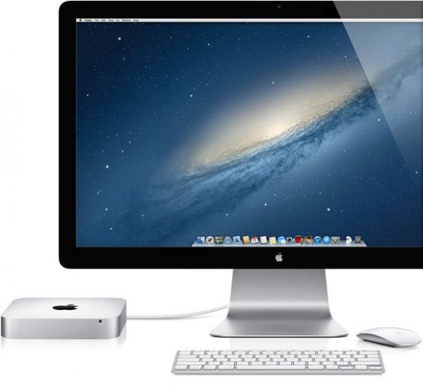 Mac mini com Thunderbolt Display e Magic Mouse