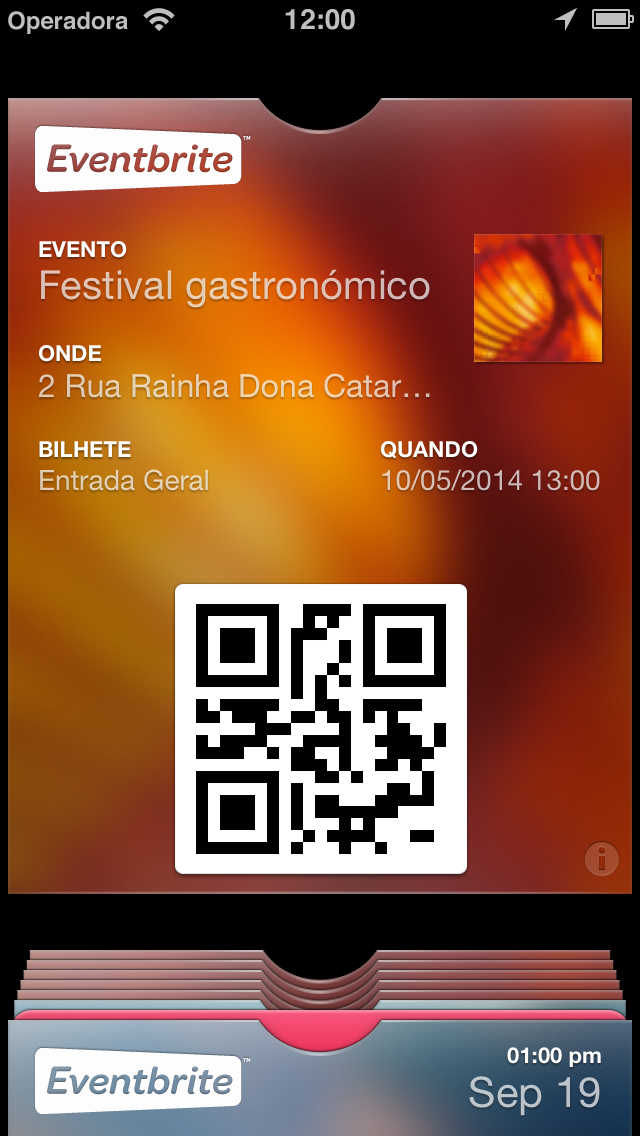 Eventbrite (iPhone 5)