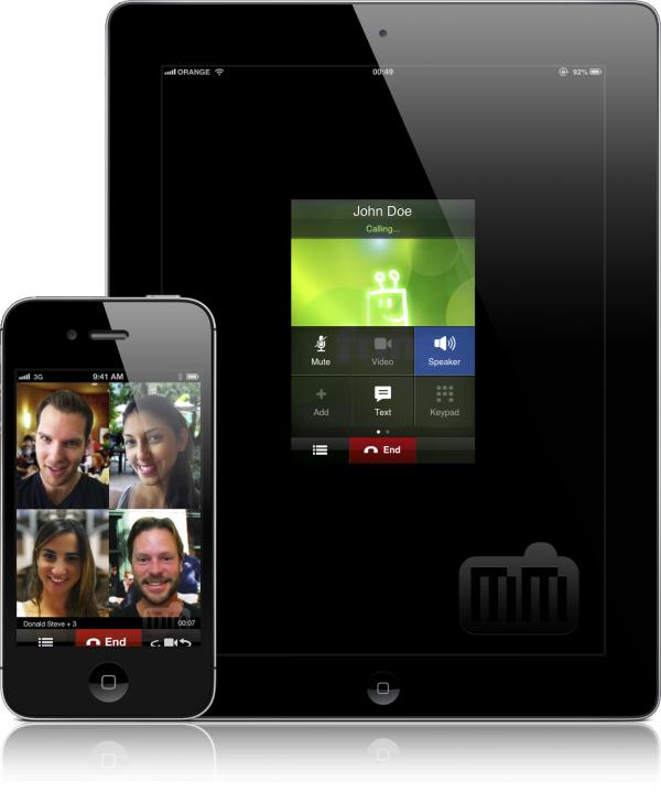 fring rodando em iPhone e iPad