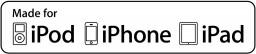 Made for iPod, iPhone e iPad