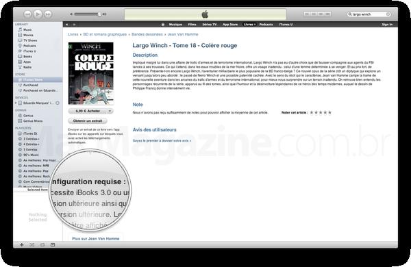 Indicação do iBooks 3.0