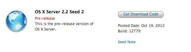 OS X Server 2.2 no Mac Dev Center