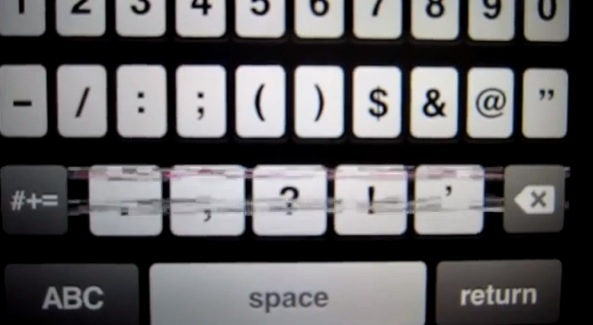 Bug no teclado do iPhone 5