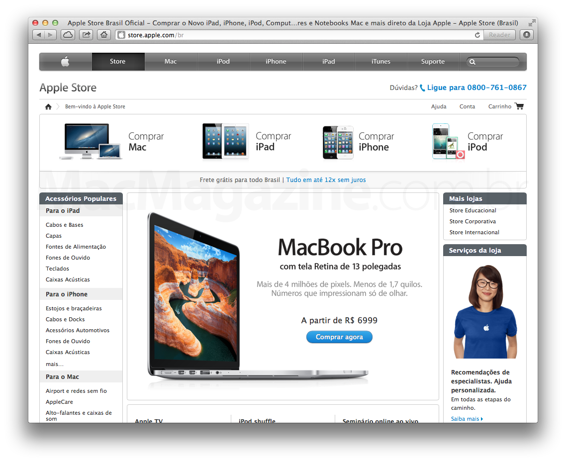 Apple Online Store de visual novo