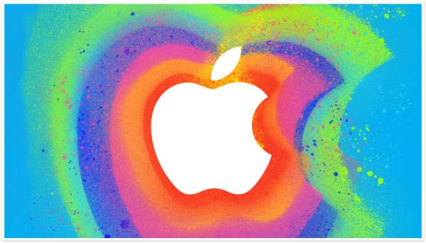 Banner da transmissão do evento especial da Apple