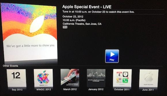 Evento da Apple será transmitido em Apple TVs