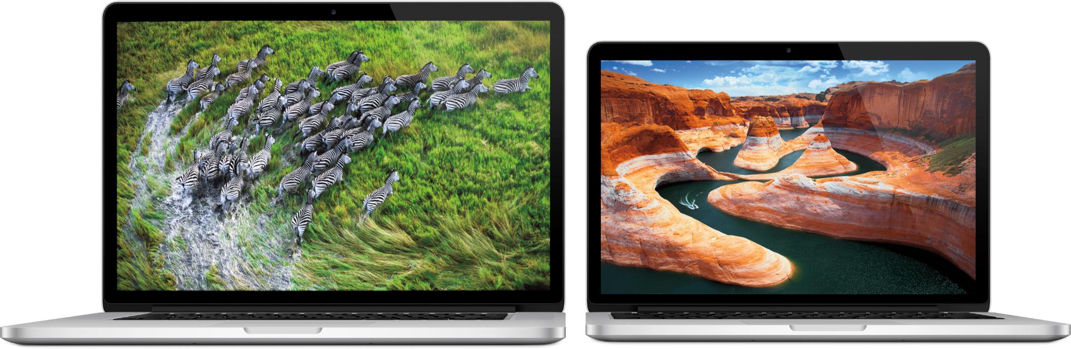 Novos MacBooks Pro lado a lado