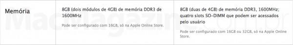 RAM de iMacs