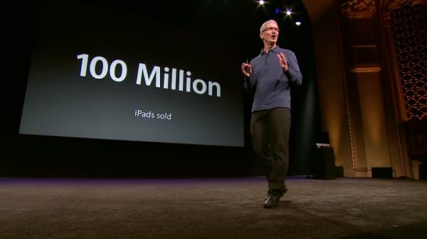 Tim Cook informa que já foram vendidos 100 milhões de iPads