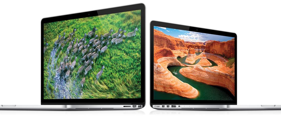 MacBooks Pro com tela Retina (15 e 13 polegadas)