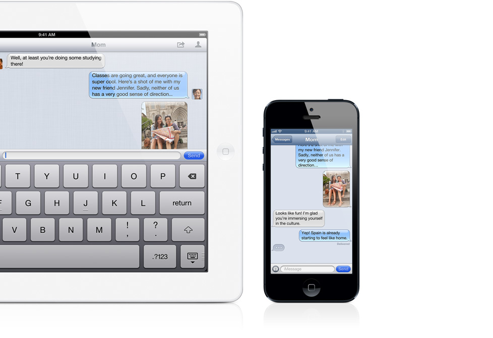 iMessage em iPad e iPhone 5