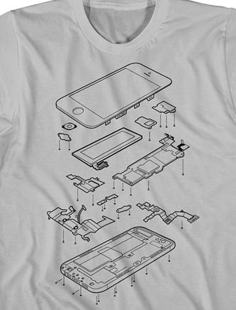 Exploded iPhone 5 - camiseta