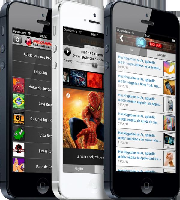MegabogaCasts em iPhones