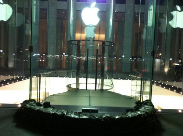 Apple Store preparada para o furacão Sandy