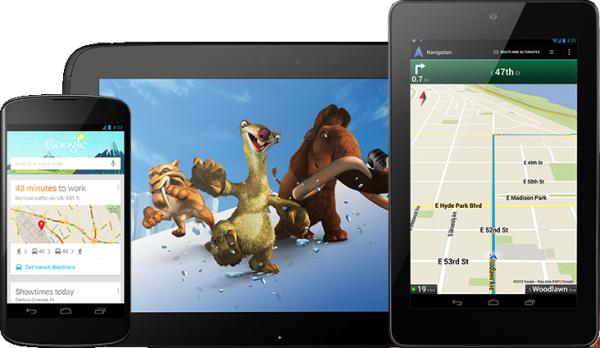 Família Nexus (Nexus 4, Nexus 7 e Nexus 10)