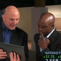 Steve Ballmer sendo entrevistado pela CNBC (miniatura)