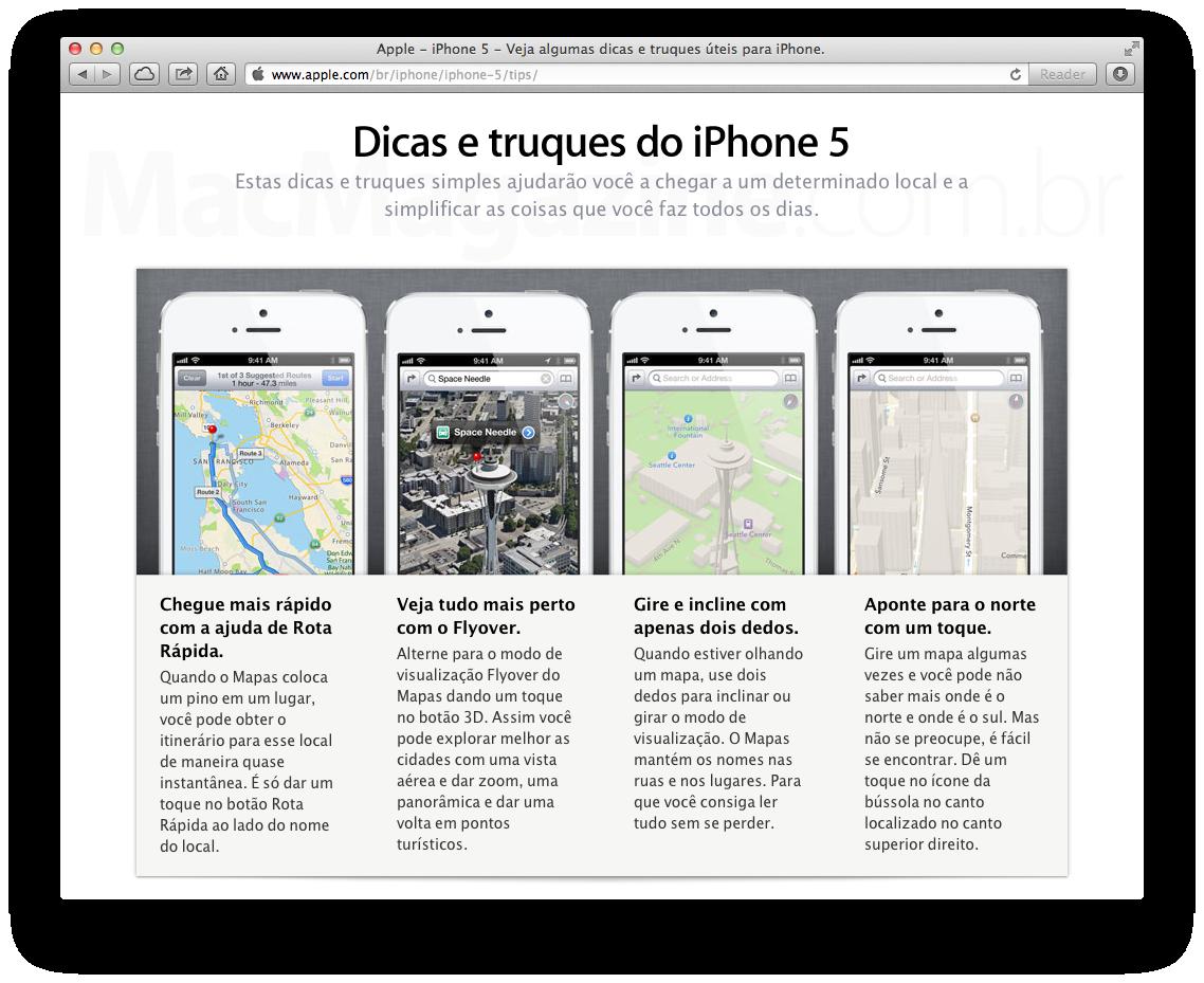 Dicas e truques do iPhone 5