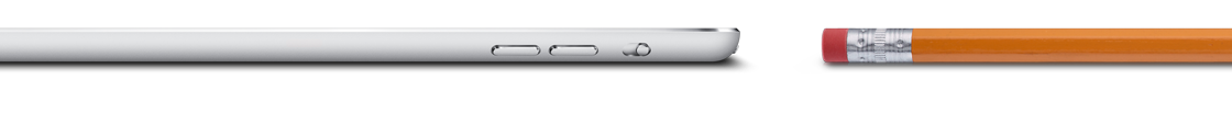 iPad mini deitado com lápis