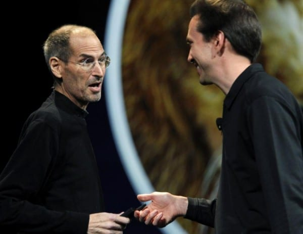 Steve Jobs e Scott Forstall na WWDC 2011