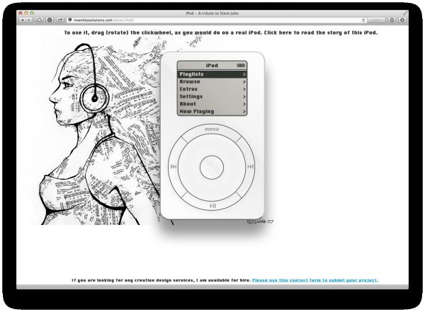 iPod classic em HTML5