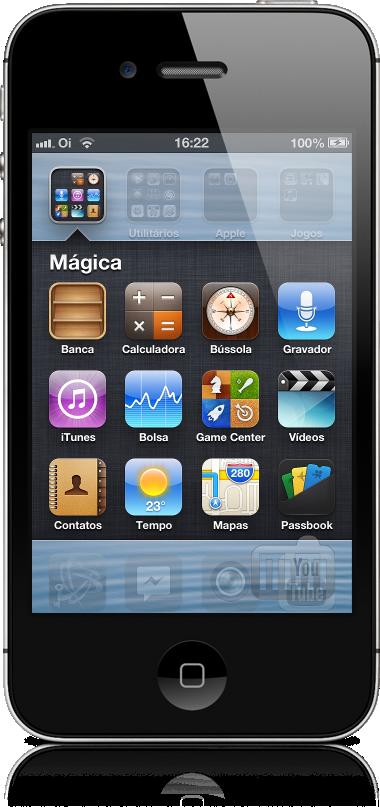 Banca dentro de uma pasta no iOS 6